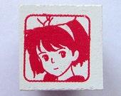 Studio Ghibli Kiki's Delivery Service Kiki Japanese Rubber Stamp
