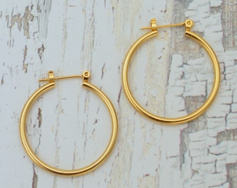 Gold earrings for women/ /Hoop earrings / bridal jewelry/ Gift for her/ bridesmaid gif