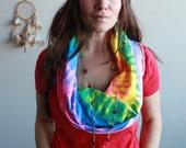 Red Colorful Tie Dye Hood...