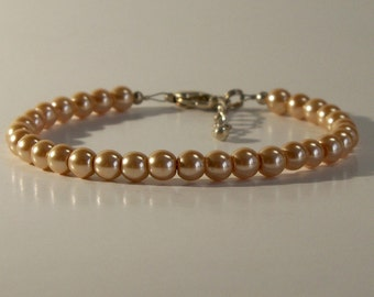 Champagne Glass Pearl Bracelet - Clearance