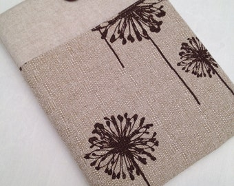 """Macbook 13"""" padded sleeve / Macbook air 13"""" cover /  made in Maine/ decorator weight fabric"""
