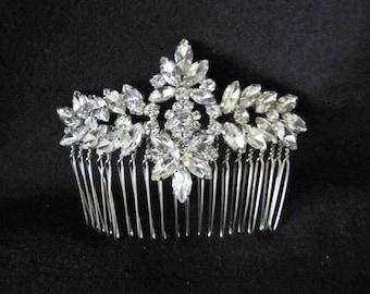 Crystal bridal comb wedding bridal crystal diamante navette hair comb wedding hair accessories
