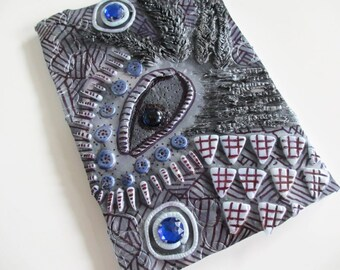 Fantasy Silver Notebook - Polymer Clay Cover