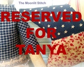 RESERVED FOR TANYA Americana doll and star, Primitive Americana, Red, white, blue, Red white and blue, Fourth of July, July 4th, Bowl filler
