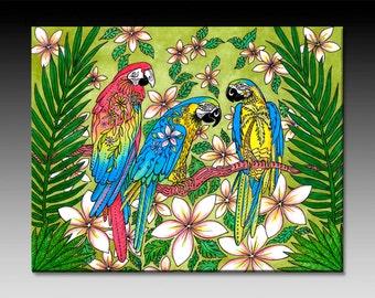 Parrot Paradise Tile Wall Art