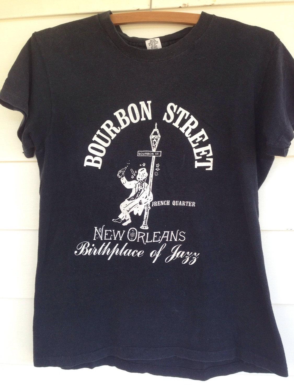 Vintage New Orleans Bourbon St French Quarter T Shirt