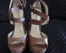 """Wild Diva Retired Shoes Ankle Strap Huge platform 1 1/2"""" Front and Phenomenal Heel 5"""" High from 1990s Size 6   On SaLe Now"""
