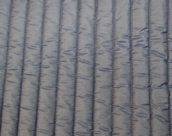 3 1/2 yards 42 wide 80s navy blue quilted lining fabric