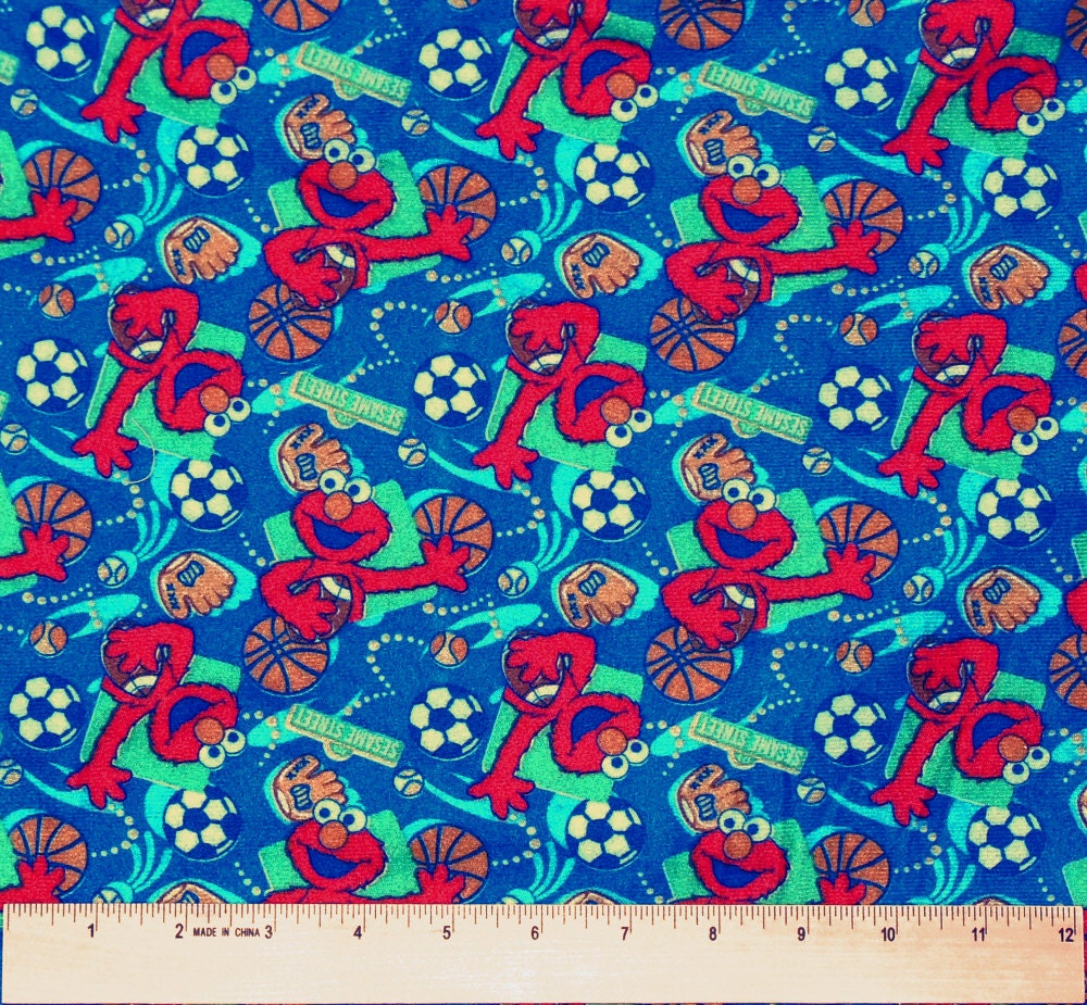 Elmo Lightweight Flannel Fabric By The Yard By Whatcamefirst