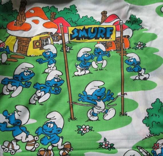 Smurf Bedsheet