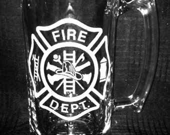Fire Department 25 Ounce Personalized Mug