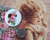1 Porcelain Roses Cameo Summertime 1 1/2 Round Hand Applied Fired Decal ECS