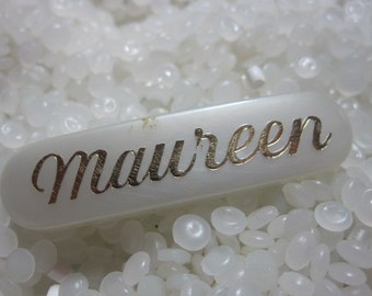 vintage barrette, with the  name Maureen