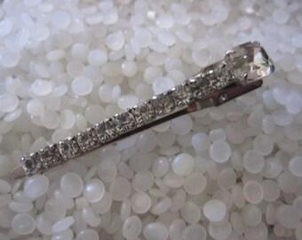 vintage barrette, rhinestones hair clip