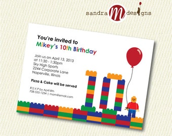 INVITATION: Color Blocks Birthday