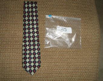 vintage tabasco made in U.S.A. 100% silk  tie