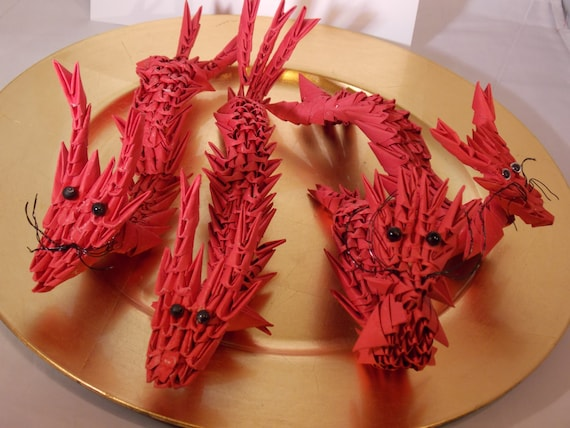 Items similar to Origami Dragon- Chinese New Year Dragon ... - photo#21