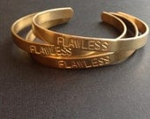 Flawless cuff bracelet stamped cuff woke up like this