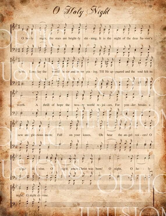 41 PDF O HOLY NIGHT PRINTABLE SHEET MUSIC PRINTABLE DOWNLOAD DOCX - * PrintableSheet
