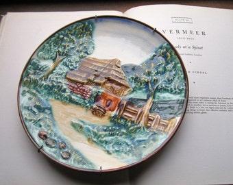 Vintage Embossed Decorative plate * Vintage Home decor