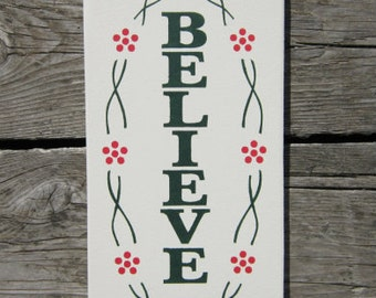 Believe Wood Sign ON SALE