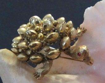 Spectacular HAR Turtle Pin Brooch Vintage 50's
