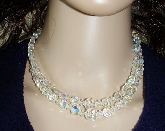 Vintage Crystal Double Strand Necklace