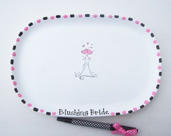 Ceramic Signature Plate for BRIDAL SHOWER Guest Book Alternative