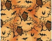 FAT QUARTER - Owls and Branches, Steele Creek Studio, Springs Fabric, Cotton Quilt Fabric, Halloween Fabric, Owl Fabric, Quilting Fabric