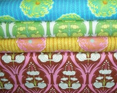 YARD Bundle - 5% OFF! Amy Butler, Soul Blossoms, Passion Lily, Delhi Blooms, Designer Cotton Quilt Fabric, Floral Fabric, Quilting Fabric