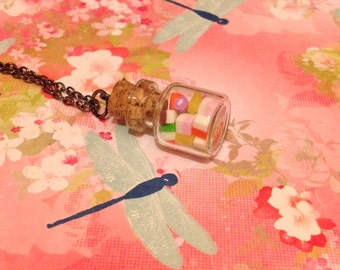 Micro Dolly Mixture Bottle Necklace