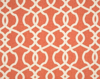 NEW-TANGERINE GEOMETRIC-Decorative Designer Pillow CoverTangerine /Orange /Ivory
