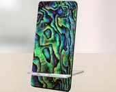 Mobile Cell Phone Stand Holder Display Accessories Decor Gift for Office, Desk, Home, Shelf Shell Pattern - artstudio54