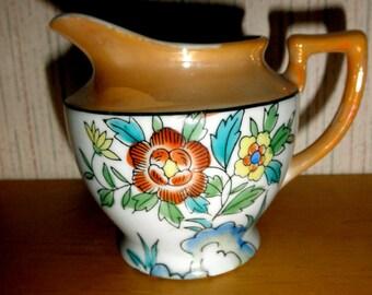 vintage made in Japan Lusterware hand painted creamer