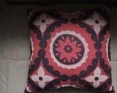 Oh Bandana! hand block printed decorative geometric motif linen pillow case