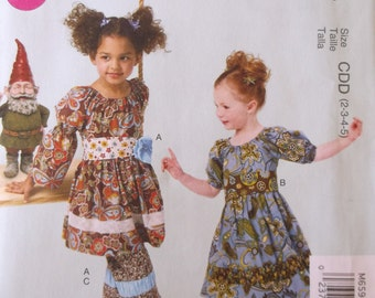 Mccalls M6594 Girls Dresses,Belts and Pants Pattern,Ruffles and Lace Treasured Collection Girls Size 2,3,4,5,