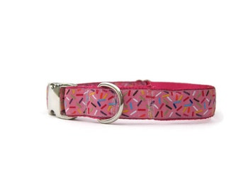 "Sprinkles Dog Collar Custom Adjustable Sweet Dog Collar 3/4"" wide in Extra Small, Small, Medium, Large, or Custom"