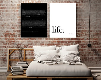 Bob Marley Quote Wedding Canvas art canvas wall art Wedding gifts for couple bedroom decor Gifts for him Engagement Gifts 1st Anniversary