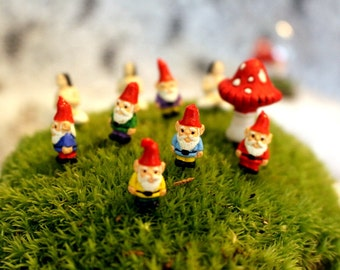 "Miniature gnomes-Yoga Girl-Teeny Tiny Garden gnome-Wee fairy garden gnomes-6 colors to choose from-1/2"" without post"