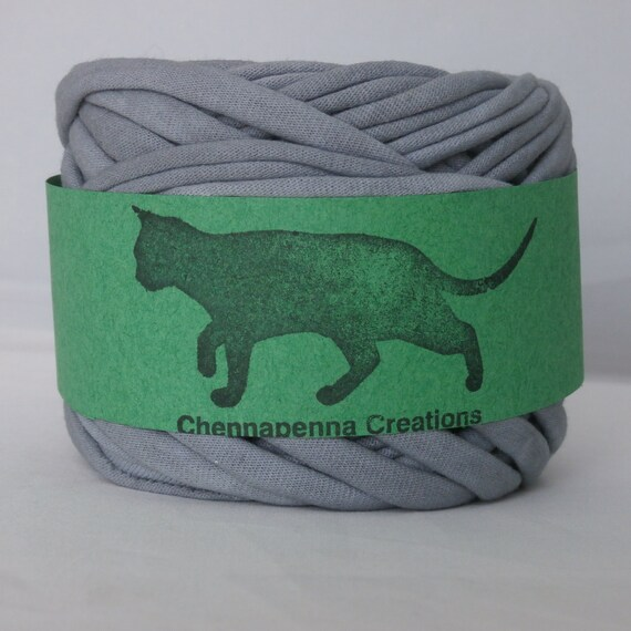T shirt yarn hand dyed gray 30 yards from for T shirt printing st charles mo