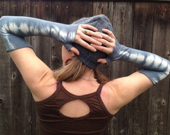 Fingerless sleeves/ stretchy Hemp and Organic Cotton