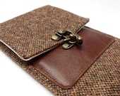 iPhone 6 Plus / Galaxy Note wallet - brown tweed