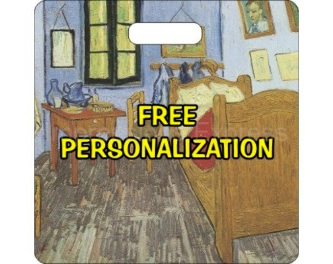 Vincent Van Gogh The Bedroom Painting Personalized Square Luggage Bag Tag