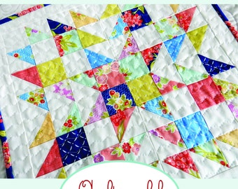 Summer Star Mini Quilt Paper Pattern