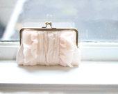 Blush Clutch | Bridal Clutch | Wedding Clutch | Monogram Clutch [Flutter Clutch: Blush Silk]