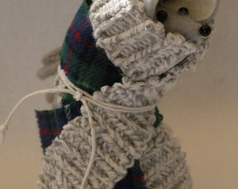 Homeless Felt Mouse  soft sculpture  decoration