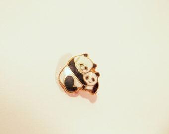 Panda Bear Pin Enamel Metal Small Lapel Pin Wildlife