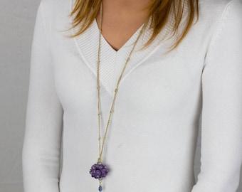 Inspirational Jewelry, February Birthstone, Amethyst Necklace, February Birthstone Necklace, Maternity Necklace, Amethyst Energy Necklace