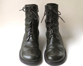 vintage Donald J. Pliner Army Green Combat Boots / made in Italy