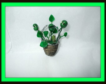 dollhouse Gothic Witch Wizard Halloween Maneating plant miniture ooak